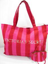 Victoria's Secret Signature Stripe Weekend Tote Bag Travel Duffel Suitcase HUGE!
