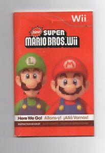 New Super Mario Bros Wii Nintendo MANUAL ONLY
