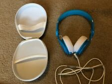Beats by Dre Mixr Headband Headphones - Neon Blue, w/ case, School, CHRISTMAS