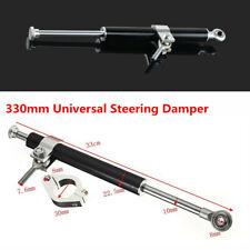 Adjustable 330mm Aluminum Steering Damper Rod Motorcycle Fork Clamp Universal