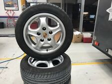 SET OF FOUR PORSCHE 993 WHEELS AND TYRES 16""