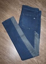 Rag and Bone Size 24 Women's Legging Jeans with Patch Detail in Midnight