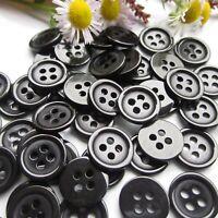 20 Bouton rond 11mm 4 trou noir Scrapbooking Mercerie couture art décoratif