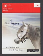 CANADA BOOKLET BK403 54c x10 NEWFOUND PONY AND CANADIAN HORSE