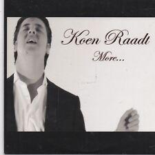 Koen Raadt-More cd single