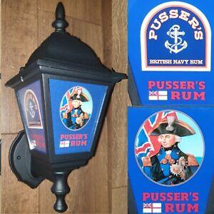 Pussers Rum Pussers Navy Rum wall lantern Pussers Navy Rum rum pub bar light