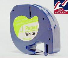 1-100 tape cartridge 91200 white paper 12mm x 4m for DYMO LETRATAG label makers