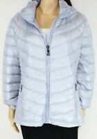 Calvin Klein Women's Jacket Blue Size Small S Full-Zip Hooded Puffer $139- 834