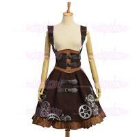 Medieval Lolita JSK Corset Dress/Cape Gothic PunK Gear Embroidery Vintage Dress