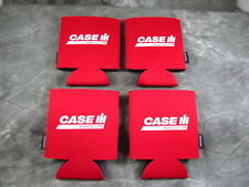 Lot Of 4 Case IH Agriculture Farm Tractor Red 12 Ounce Can Cooler Koozie