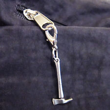 ONE Exclusive PULASKI Charm ZIPPER PULL Pewter Fire Axe Wildland Firefighter