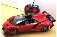 SUPER FAST OPEN ROOF R/C RADIO REMOTE CONTROL LED CARS 1:18 - RECHARGEABLE