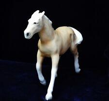 "Vintage Porcelain Ceramic Running Trotting Palomino Horse Figurine Japan 7"""