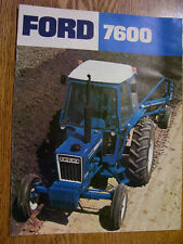 VINTAGE FORD TRACTOR ADVERTISING BROCHURE -7600 TRACTOR