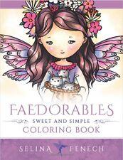 Enchanted Cute Fairy Adult Colouring Book Fantasy Mystical Magical Fairies