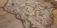 Deluxe Skyrim Map NEW AND RARE COLLECTOR'S EDITION ORIGINAL FREE SHIPPING