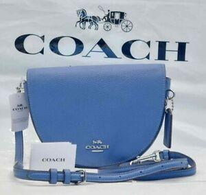 NWT Coach Ellen Crossbody  Shoulder bag Leather C1432 Silver / Stone Blue