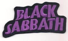 BLACK SABBATH (British psychedelic heavy metal logo patch) 10 x 4.5 Cm