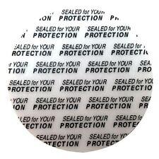 12 x Tamper Evident Seals for Shampoo bottle HIDDEN FLASK Security Seal NEW