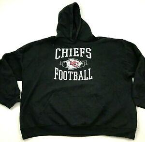 NFL Kansas City Chiefs Sweater Hoodie Size 2XL XXL Black Pullover Long Sleeve