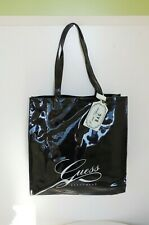 GUESS WOMENS SHOULDER BAG HANDBAG TOTE BEACH EXTRA LARGE SHINY LAQUERED NEW 646