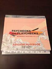 Paychecks and Playchecks Advisor Playbook - Brand New - Spiral Bound - Tom Hegna