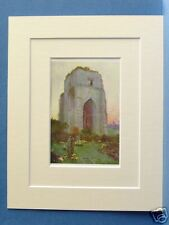 SHAP ABBEY CUMBRIA VINTAGE DOUBLE MOUNTED PRINT 1908 10X8 OVERALL HEATON COOPER
