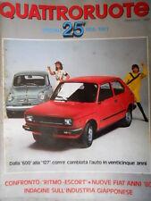Quattroruote 304 1981 Dalla 600 alla 127 com'è cambiata l'auto in 25 ann [Q75]