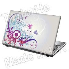 """15,6 """"Laptop Skin Sticker Decal Flor Mariposas 285"""