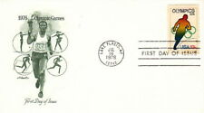 1976 OLYMPIC TRACK - LAKE PLACID NY CACHET FDC COVER