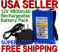 LOT OF 5 Portable 12V DC 9800mAh Rechargeable Li-ion Batteries electronics