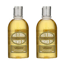 SET OF 2 L'Occitane Almond Shower Oil 250ml Body Bath Cleansers Fresh #660_2