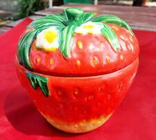 VINTAGE HAND PAINTED COVERED STRAWBERRY BOWL ROSSETTI CHICAGO MADE IN JAPAN