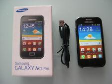 SAMSUNG Galaxy Ace Plus GT-S7500 / schwarz / ohne Simlock / Smartphone / Zubehör