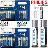 PHILIPS AAA BATTERIES Ultra Power Alkaline Battery Long Life | PACK OF 8