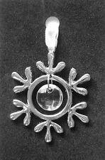 Kristall Weihnachten Baum Dekoration, Schneeflocke, silber Metall & Acryl