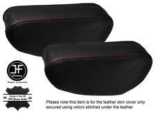 PUNTO ROSSO 2x Sedile Bracciolo in pelle copre Si Adatta Mitsubishi Pajero Shogun 90-01