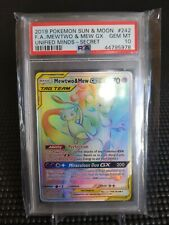 Mewtwo & Mew GX Unified Minds 242/236 PSA 10 GEM MINT Secret Rare Pokemon Card