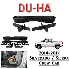 10300 DU-HA Jet Black Underseat Storage Box Tray Silverado / Sierra Crew Cab