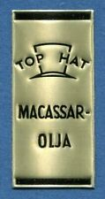 Advertisement Original Seal Label A39 Gold MNH Top Hat Macassar Oil Sweden