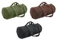 Black Brown Green Canvas Gym MMA UFC Double Ender Duffle Athletic Shoulder Bag