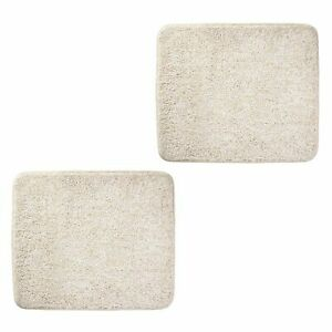 """mDesign Soft Microfiber Small Accent Rug Mat, 2 Pack, 21"""" x 17"""" - Heather Tan"""