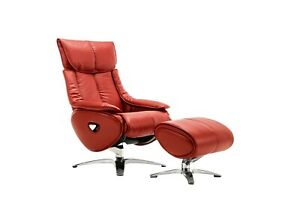 Leather Sofa Recliner Chair Adjustable Luxury Armchair Lounge  Red