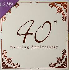 40th Ruby  Wedding anniversary Invitations - 10 luxury cards & envelopes
