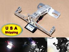 CNC License Plate Bracket Fender Eliminator LED Rear Light For Motorcycle Silver