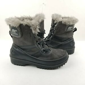 Sorel Women's Tivoli Parc Boots Size 7.5 Fur insole Gray Snowboot