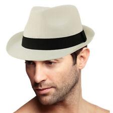 Unisex Basic Cool Lightweight Summer Derby Fedora Trilby Adjustable Hat