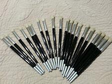 "Plaid Stencil Paint Brush Set/Lot of 20 brushes 3/8"""