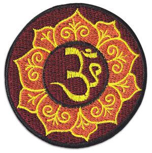 Om Aom Aum Symbol Yoga Namaste Yogi Goa Party Aufnäher Aufbügler Patch Bügelbild
