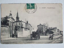 CPA NIORT (79 DEUX SEVRES) HOPITAL HOSPICE ANIMEE CALECHE VOITURE A CHEVAL